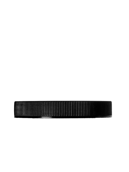 70-400 black PP ribbed square lid with pressure sensitive liner